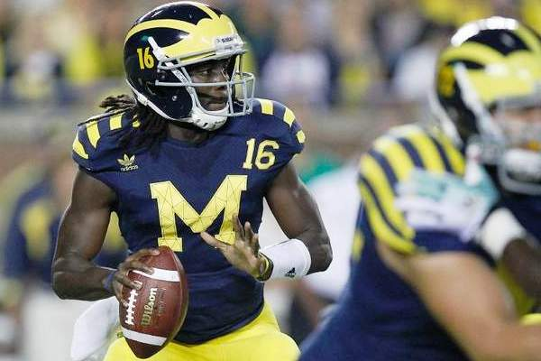 Football ncaa university of michigan vince in maglia - Maglia calcio americano ...