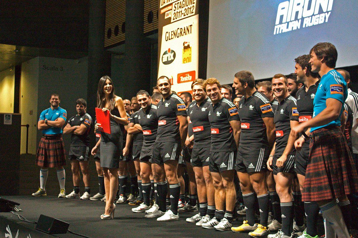 Rugby, Pro12: presentate maglie speciali Aironi per i derby con Treviso. Prevista vendita solidale