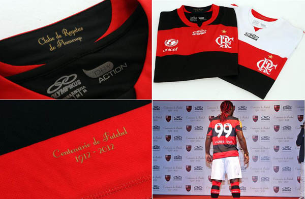 Flamengo Camisa Centenario Olympikus