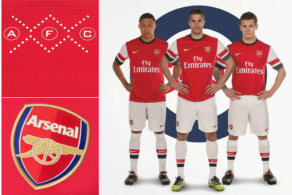 Calcio, Premier: Arsenal Home Kit Nike 2012/13