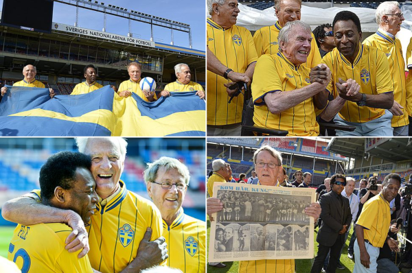 Calcio, Raasunda: Pelé con maglia numero 58 Svezia