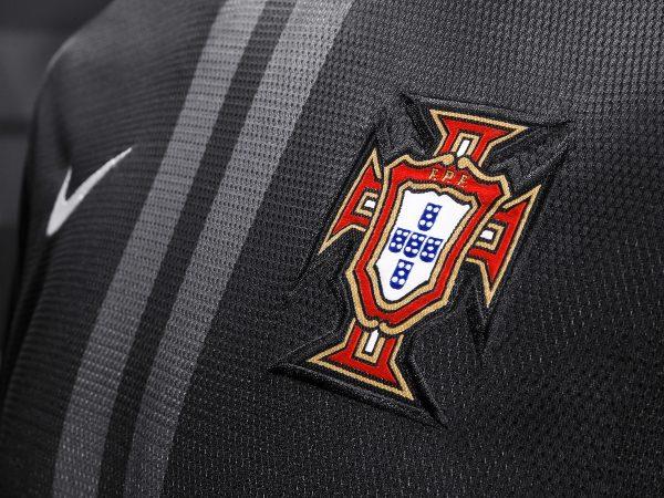 Maglia Nike away nera Portogallo