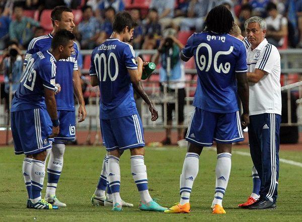 Chelsea con numeri thailandesi
