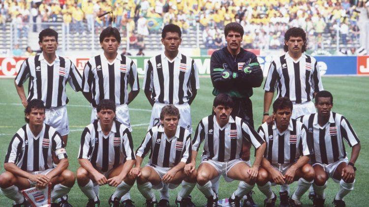 Italia 90 maglia Costa Rica bianconera Lotto