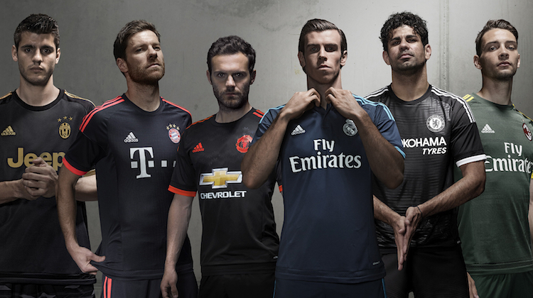 terza maglia manchester united real bayern chelsea 2015