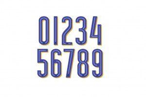 Font numeri Italia Euro 2016