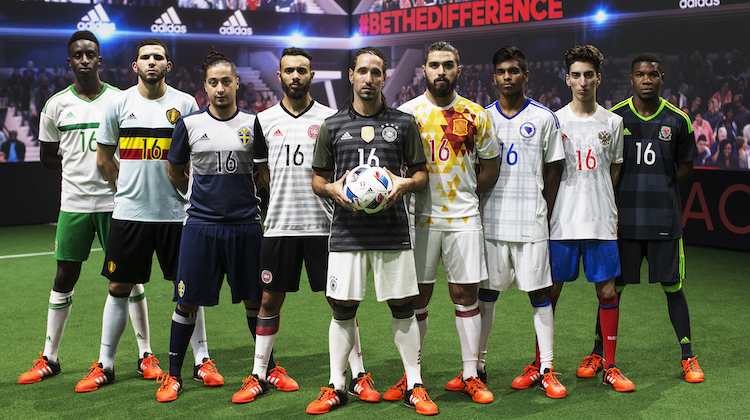 Euro 2016, maglie di riserva nazionali adidas