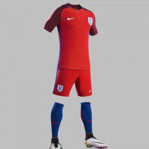 Inghilterra, maglia rossa 2016 di Nike (1)