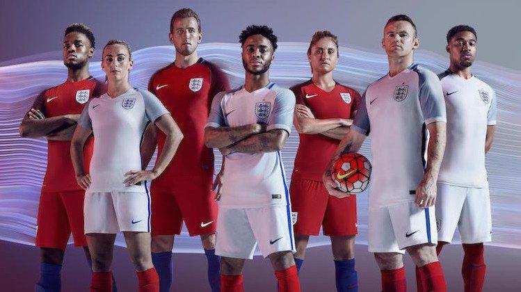 Euro 2016, la nuova maglia dell'Inghilterra