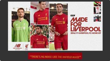 Liverpool, la nuova maglia 2016-17