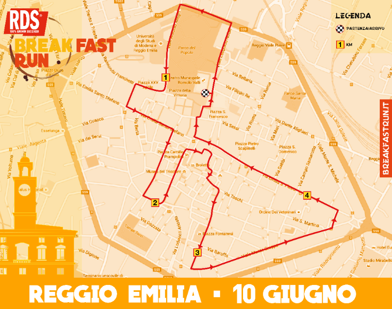 reggio emilia breakfast run 2016 percorso