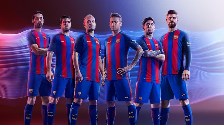 Barcellona home kit maglia 2016 2017 Nike