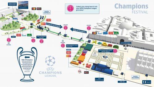Milano Champions Village Uefa Mappa