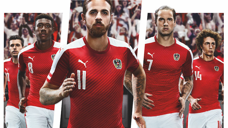 Maglia dell'Austria per Euro 2016