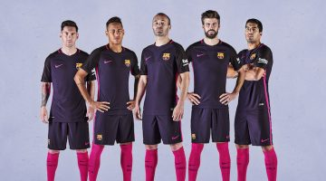 Barcellona, maglia away 2016-2017 Nike