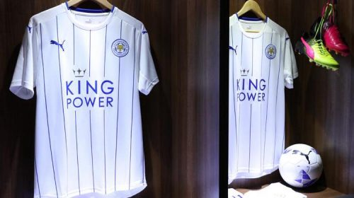 leicester city maglia bianca 2016 Champions