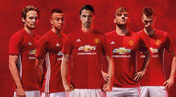 Maglia Manchester United 2016-2017: home kit