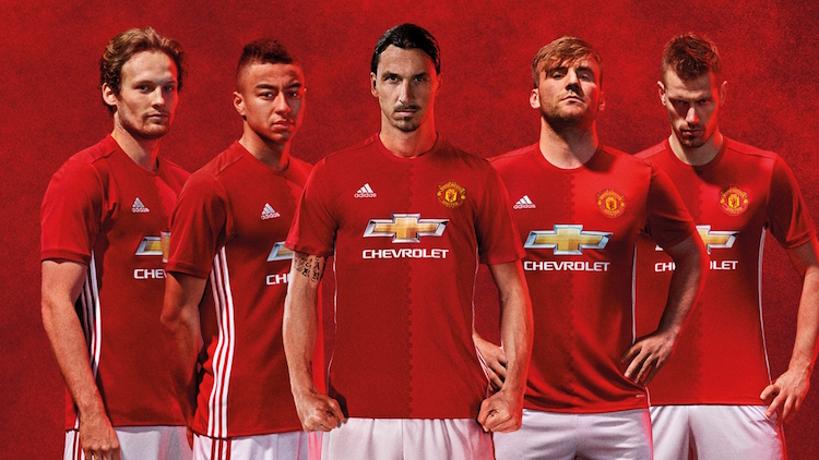 Manchester united maglia 2016 2017 home kit di adidas for Manchester united shirt sponsor