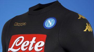 Napoli, terza maglia 2016-2017 nera e oro