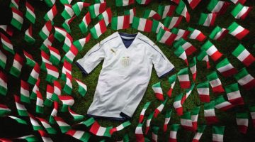 Maglia Italia, nuova away bianca 2016