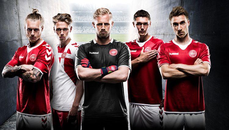 Maglia Danimarca 2016-2017 home away kit hummel