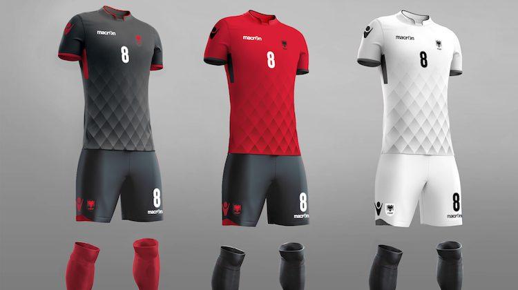Maglia Albania, i tre kit 2017