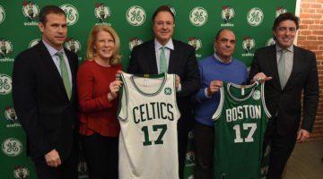 Boston Celtics, maglia con sponsor GE