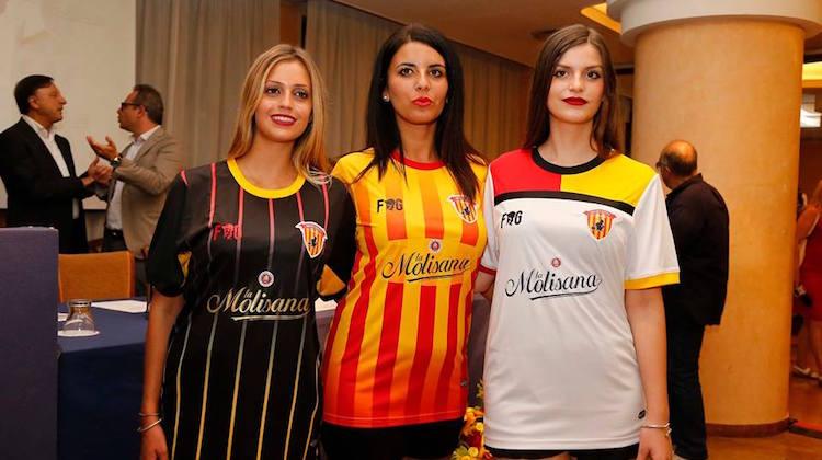 Le maglie del Benevento 2017-2018