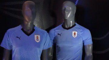 Puma presenta la maglia per Russia 2018 dell'Uruguay