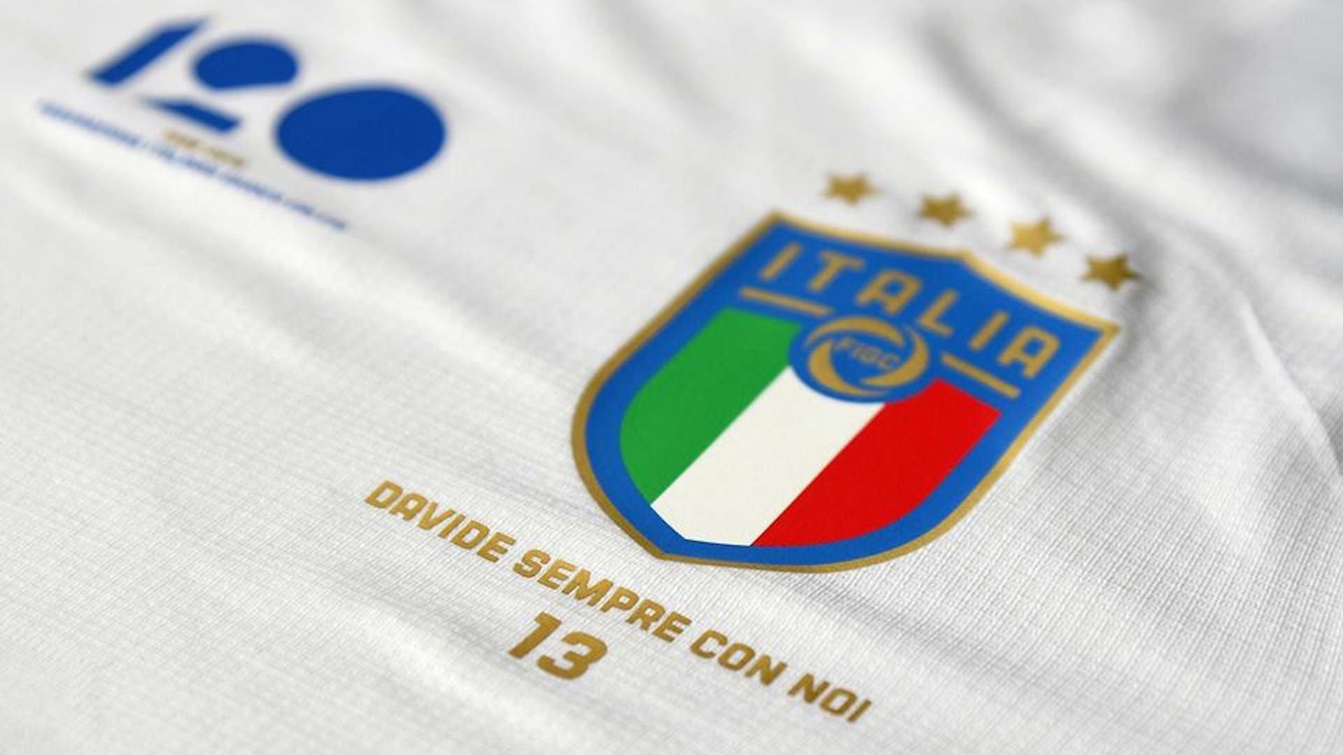 seconda maglia nazionale italiana calcio astori