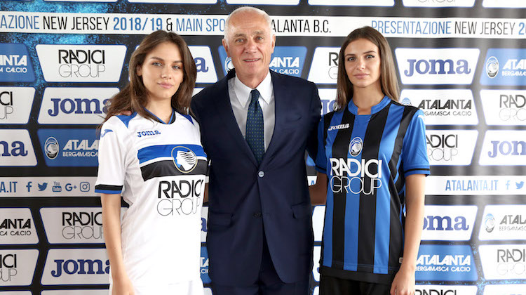 Atalanta home away kit 2018 2019 joma