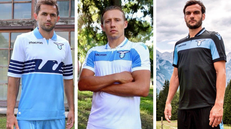 Lazio home away third kit 2018 2019