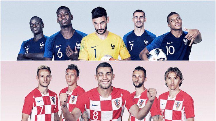 Francia Croazia maglie Mondiali 2018