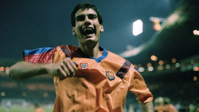 Pep Guardiola a Wembley 1992