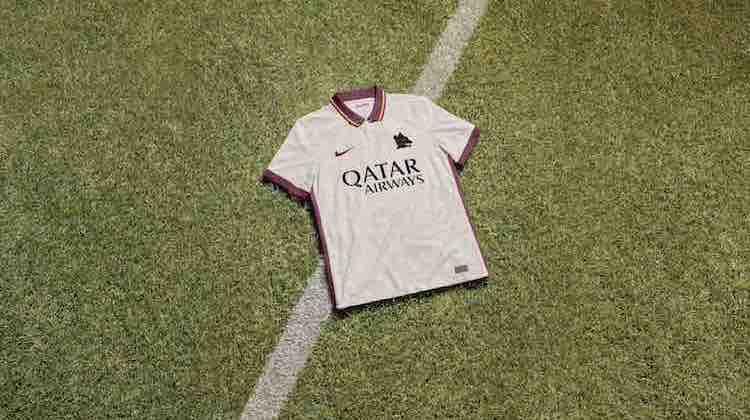 Roma maglia trasferta bianca 2020-21