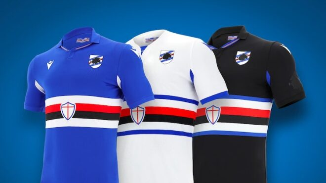Sampdoria home away third kit 2020-2021