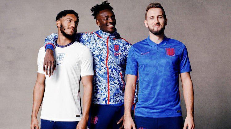 Inghilterra maglia home e away 2020-2021